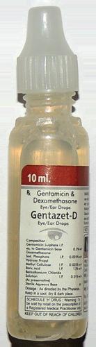 gentamicin and dexamethasone eye and ear drops